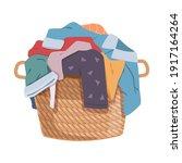 dirty clothes. apparel heap... | Shutterstock .eps vector #1917164264