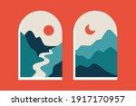 abstract mountain landscape... | Shutterstock .eps vector #1917170957