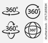 set of 360 icon. 360 degree... | Shutterstock .eps vector #1917185834