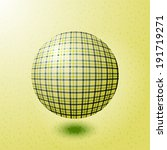 ball with the texture of fabric | Shutterstock . vector #191719271