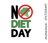 no diets day poster. no... | Shutterstock .eps vector #1917255497