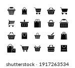 set of shopping cart glyph... | Shutterstock .eps vector #1917263534