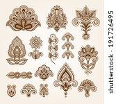 ornamental flowers. vector set... | Shutterstock .eps vector #191726495