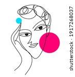 abstract woman portrait. modern ...   Shutterstock .eps vector #1917268037