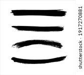 art black ink abstract brush... | Shutterstock .eps vector #1917270881