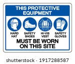 this protective equipment must... | Shutterstock .eps vector #1917288587