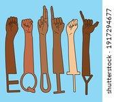 equity diversity inclusive deaf ... | Shutterstock .eps vector #1917294677