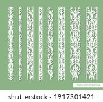 set of borders with floral... | Shutterstock .eps vector #1917301421