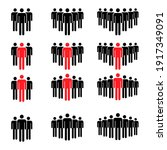 grouping people collection flat ...