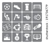 soccer icons set | Shutterstock .eps vector #191736779