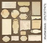 scrapbooking ripped old papers. ...   Shutterstock .eps vector #1917377471