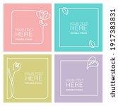set of flower frames  vector ... | Shutterstock .eps vector #1917383831