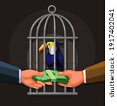 people selling toucan exotic... | Shutterstock .eps vector #1917402041