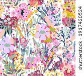 sketchy botanical print on...   Shutterstock .eps vector #1917420524