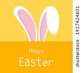 happy easter card with rabbit... | Shutterstock .eps vector #1917424601