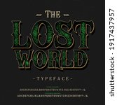 font the lost world. craft... | Shutterstock .eps vector #1917437957