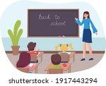 children at school desk ...   Shutterstock .eps vector #1917443294