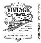 font vintage travel. craft... | Shutterstock .eps vector #1917444941