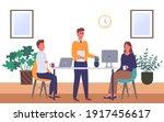businessmen dressed in formal... | Shutterstock .eps vector #1917456617