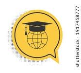 black graduation cap on globe...   Shutterstock .eps vector #1917458777
