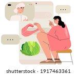 online dietitian consultation.... | Shutterstock .eps vector #1917463361