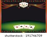 nice horizontal  poker... | Shutterstock .eps vector #191746709