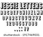 jessie alphabet letters  vector ...   Shutterstock .eps vector #1917469031