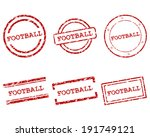 football stamps | Shutterstock .eps vector #191749121