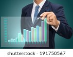 businessman pointing to... | Shutterstock . vector #191750567