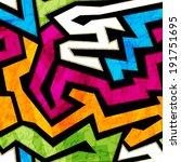 colored graffiti seamless... | Shutterstock .eps vector #191751695