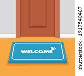 doormat in front door. house... | Shutterstock .eps vector #1917540467