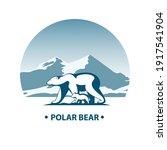 polar bear with little bear cub ...   Shutterstock .eps vector #1917541904