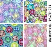 a set of four vector seamless... | Shutterstock .eps vector #191754791