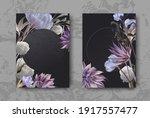 wedding invitation frame set ... | Shutterstock .eps vector #1917557477