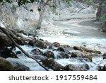 Landscape Of Mountain River...