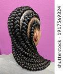 Afro Hair Braided In A Cornrow...
