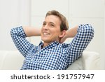 happy young man with hand...   Shutterstock . vector #191757947