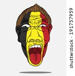football fan from belgium   Shutterstock .eps vector #191757959