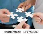 closeup businesspeople hand... | Shutterstock . vector #191758007