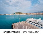 Travel By Croatia. Ferry Boat...