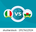 italy vs wales euro 2020 match. ... | Shutterstock .eps vector #1917612524