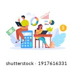 people man woman characters... | Shutterstock .eps vector #1917616331