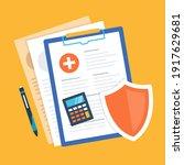 health insurance. medical... | Shutterstock .eps vector #1917629681
