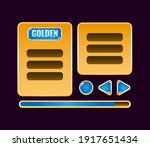 set of golden jelly game ui...
