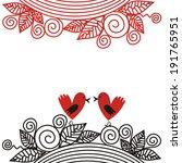 valentines day card birds... | Shutterstock .eps vector #191765951