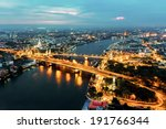 bangkok transportation at dusk... | Shutterstock . vector #191766344