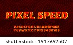 pixel speed alphabet font. fast ... | Shutterstock .eps vector #1917692507
