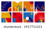 abstract doodle posters set....   Shutterstock .eps vector #1917711221