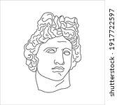 antique sculpture of apollo in...   Shutterstock .eps vector #1917722597