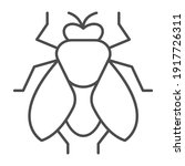 fly thin line icon  pest... | Shutterstock .eps vector #1917726311